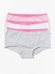3-pack Briefs with Cats Pink