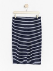 Striped navy blue skirt  Blue
