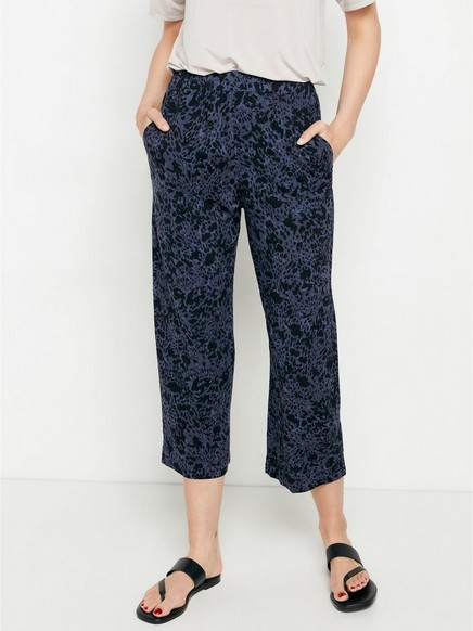 BELLA Relaxed Cropped Housut Harmaa