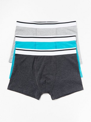 3-pack Boxer Shorts Turquoise