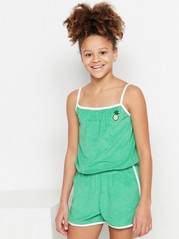 Green Terry Jumpsuit Green