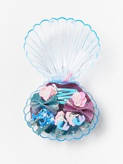 8-pack Hair Clips in a Box Turquoise