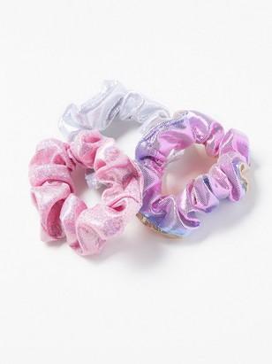 3-pack skimrande scrunchies Rosa