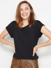 Short sleeve cotton top  Black