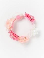 Floral Hair Elastic White