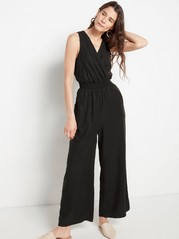 Black Lyocell Jumpsuit  Black
