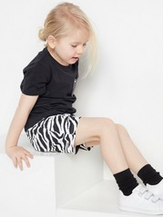 Set with t-shirt and striped shorts Black