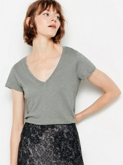 V-neck cotton top  Green
