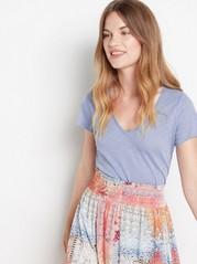 V-neck cotton top  Blue