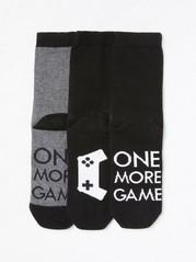 3-pakning med sokker Svart