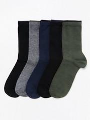 5párů ponožek Zelená