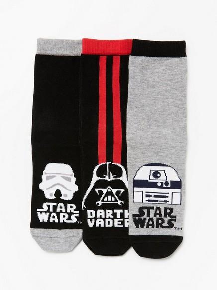 3-pack strumpor Star Wars  Svart