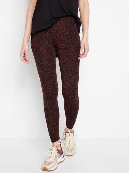 Leopardmønstret leggings Svart