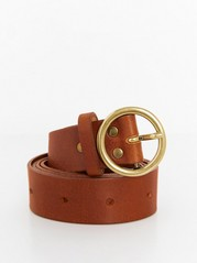 Brown Leather Belt  Brown