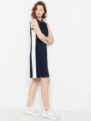 Modré polo šaty Modrá