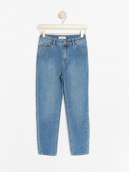 Light blue narrow fit hight waist jeans Blue