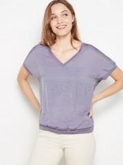 Short sleeve v-neck top  Lilac