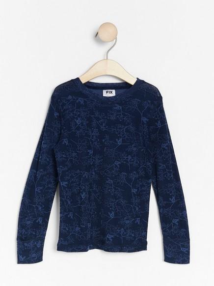 FIX Thermal top in merino wool Blue