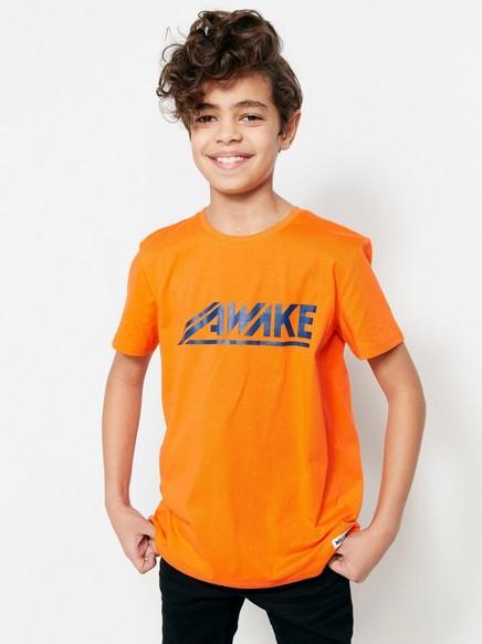 T-paita, jossa painatus Oranssi