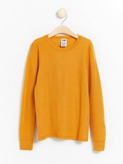 Long sleeve merino wool top  Yellow