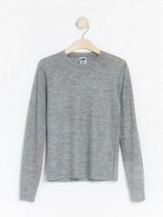 Long sleeve marino wool top  Grey