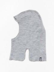 Grey balaclava in merino wool  Grey