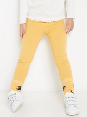 Leggings with brushed inside Yellow