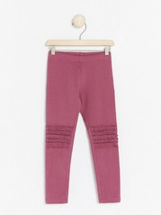 Leggings with frill knees Pink