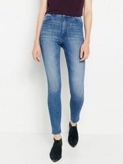 VERA Blå skinny jeans med high waist Blå