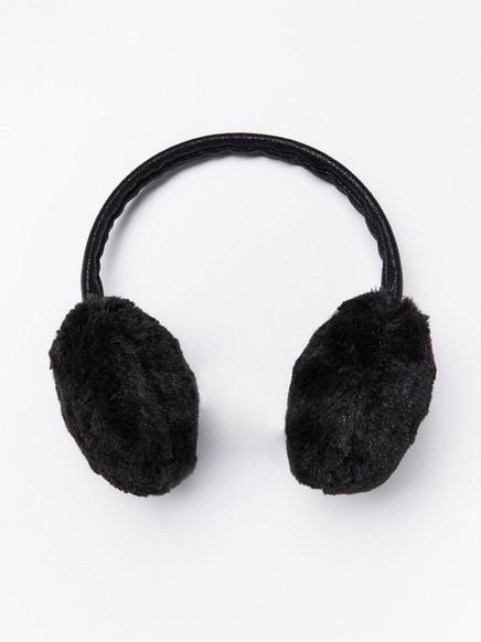 Korvanlämmittimet tekoturkiksesta Musta