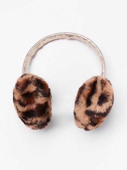 Korvanlämmittimet tekoturkiksesta Ruskea