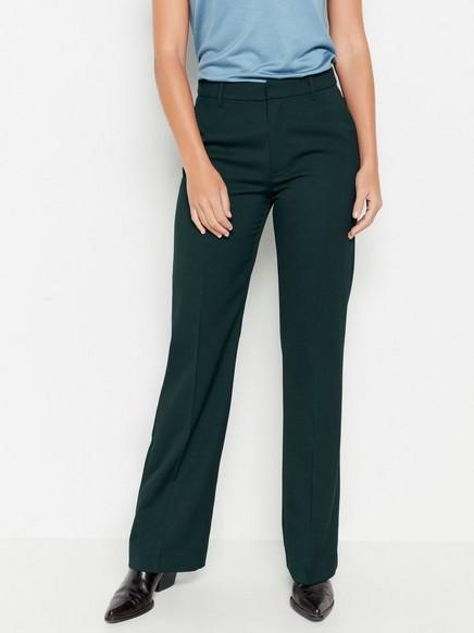 Mírně rozšířené kalhoty Zelená