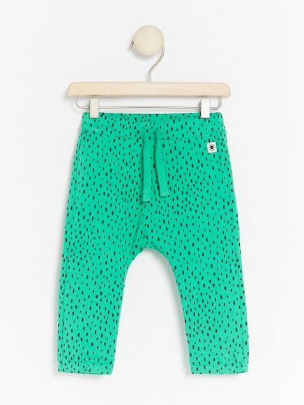 Grønne bukse med prikker Grønn