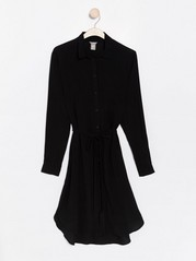 Viscose shirt dress  Black