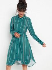 Skjortklänning i viskos Grön