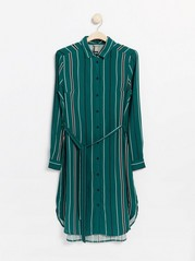 Viscose shirt dress  Green