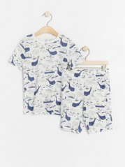 Pyjamas with boats and whales White