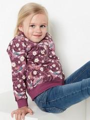 Patterned soft bomber jacket Pink