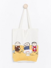 Cotton bag with Alfie Atkins print White
