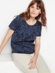 Short sleeve cotton top  Blue