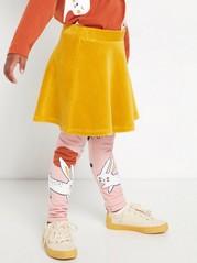 Žlutá manšestrová sukně Žlutá