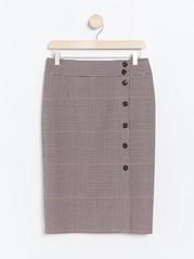 Kostkovaná sukně Hnědá
