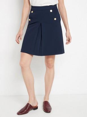 Tmavě modrá sukně Modrá