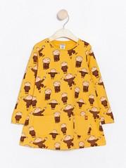 Yellow jersey tunic with Alfie Atkins print Yellow