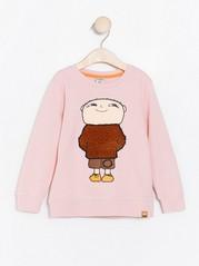Pink sweatshirt with Alfie Atkins motif Pink