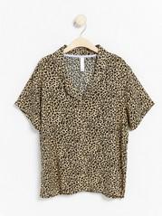 Leopardikuvioitu yöpaita Beige
