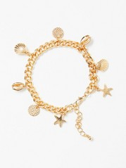 Gold Coloured Seashell Bracelet  Yellow