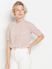 Short sleeve viscose blouse  Pink