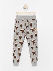 Grey sweatpants with Alfie Atkins print Grey