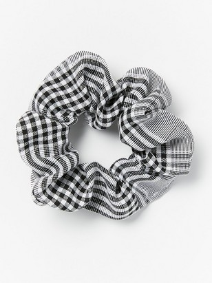 Checkered scrunchie Black